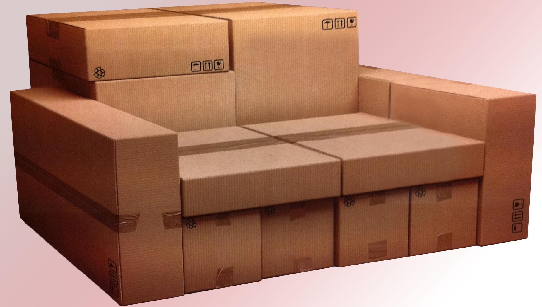 canape-en-carton-louer-meuble-ou-vide